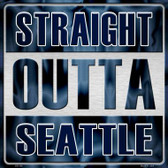 Straight Outta Seattle Wholesale Novelty Metal Square Sign