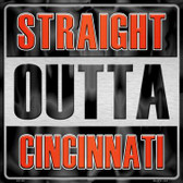 Straight Outta Cincinnati Wholesale Novelty Metal Square Sign