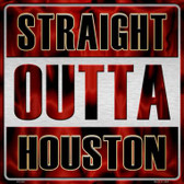 Straight Outta Houston Wholesale Novelty Metal Square Sign