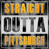 Straight Outta Pittsburgh Wholesale Novelty Metal Square Sign