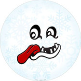 Freak Face Snowflake Wholesale Novelty Metal Circular Sign