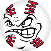 Angry Baseball Wholesale Novelty Metal Circular Sign