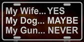 My Gun Wholesale Metal Novelty License Plate