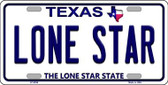 Lone Star Texas Background Novelty Wholesale Metal License Plate