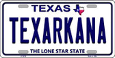 Texarkana Texas Background Novelty Wholesale Metal License Plate