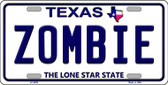 Zombie Texas Background Novelty Wholesale Metal License Plate