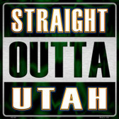 Straight Outta Utah Wholesale Novelty Metal Square Sign