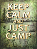 Keep Calm And Camp Wholesale Metal Novelty Parking Sign