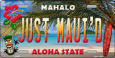 Just Mauid Hawaii Background Novelty Wholesale Metal License Plate
