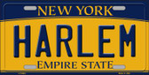 Harlem New York Background Wholesale Metal Novelty License Plate