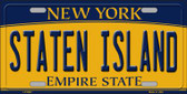Staten Island New York Background Wholesale Metal Novelty License Plate