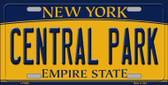 Central Park New York Background Wholesale Metal Novelty License Plate