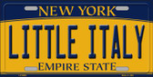 Little Italy New York Background Wholesale Metal Novelty License Plate
