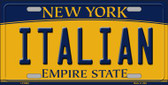 Italian New York Background Wholesale Metal Novelty License Plate
