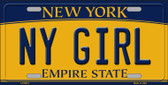 NY Girl New York Background Wholesale Metal Novelty License Plate