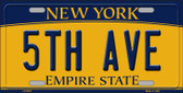 5th Ave New York Background Wholesale Metal Novelty License Plate