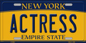 Actress New York Background Wholesale Metal Novelty License Plate