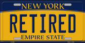 Retired New York Background Wholesale Metal Novelty License Plate