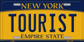 Tourist New York Background Wholesale Metal Novelty License Plate