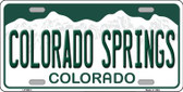 Colorado Springs Colorado Background Wholesale Metal Novelty License Plate