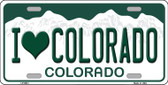 I Love Colorado Background Wholesale Metal Novelty License Plate