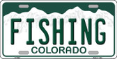 Fishing Colorado Background Wholesale Metal Novelty License Plate