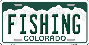 Fishing colorado background wholesale metal novelty for Where to buy fishing license colorado