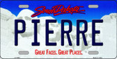 Pierre South Dakota Background Wholesale Metal Novelty License Plate