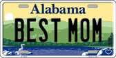 Best Mom Alabama Background Wholesale Metal Novelty License Plate