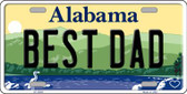 Best Dad Alabama Background Wholesale Metal Novelty License Plate