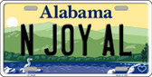 N Joy AL Alabama Background Wholesale Metal Novelty License Plate