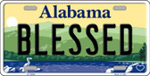 Blessed Alabama Background Wholesale Metal Novelty License Plate