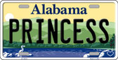 Princess Alabama Background Wholesale Metal Novelty License Plate