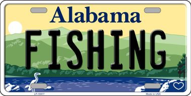 Fishing alabama background wholesale metal novelty license for Alabama non resident fishing license
