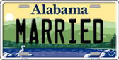 Married Alabama Background Wholesale Metal Novelty License Plate