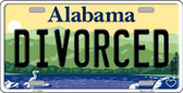 Divorced Alabama Background Wholesale Metal Novelty License Plate