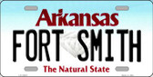 Fort Smith Arkansas Background Wholesale Metal Novelty License Plate