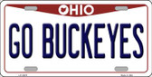 Go Buckeyes Ohio Background Wholesale Metal Novelty License Plate