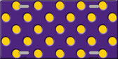 Yellow Polka Dots Purple Wholesale Metal Novelty License Plate LP-2358