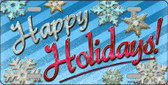 Happy Holidays Wholesale Metal Novelty License Plate