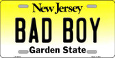 Bad Boy New Jersey Background Wholesale Metal Novelty License Plate