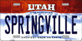 Springville Utah Background Wholesale Metal Novelty License Plate
