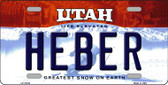 Heber Utah Background Wholesale Metal Novelty License Plate
