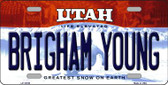 Brigham Young Utah Background Wholesale Metal Novelty License Plate