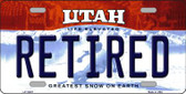 Retired Utah Background Wholesale Metal Novelty License Plate