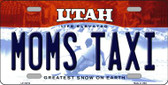 Moms Taxi Utah Background Wholesale Metal Novelty License Plate
