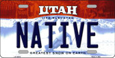 Native Utah Background Wholesale Metal Novelty License Plate