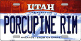 Porcupine Rim Utah Background Wholesale Metal Novelty License Plate