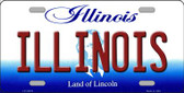 Illinois Background Wholesale Metal Novelty License Plate