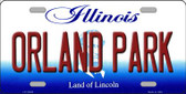 Orland Park Illinois Background Wholesale Metal Novelty License Plate